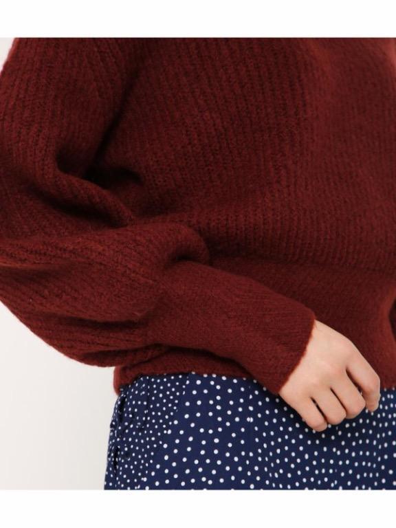 [全新|免運]日本正品 Sly 酒紅V領毛衣