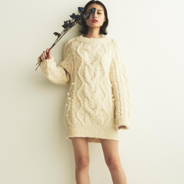 [全新|免運]日本正品 Snidel 針織厚磅毛衣洋裝