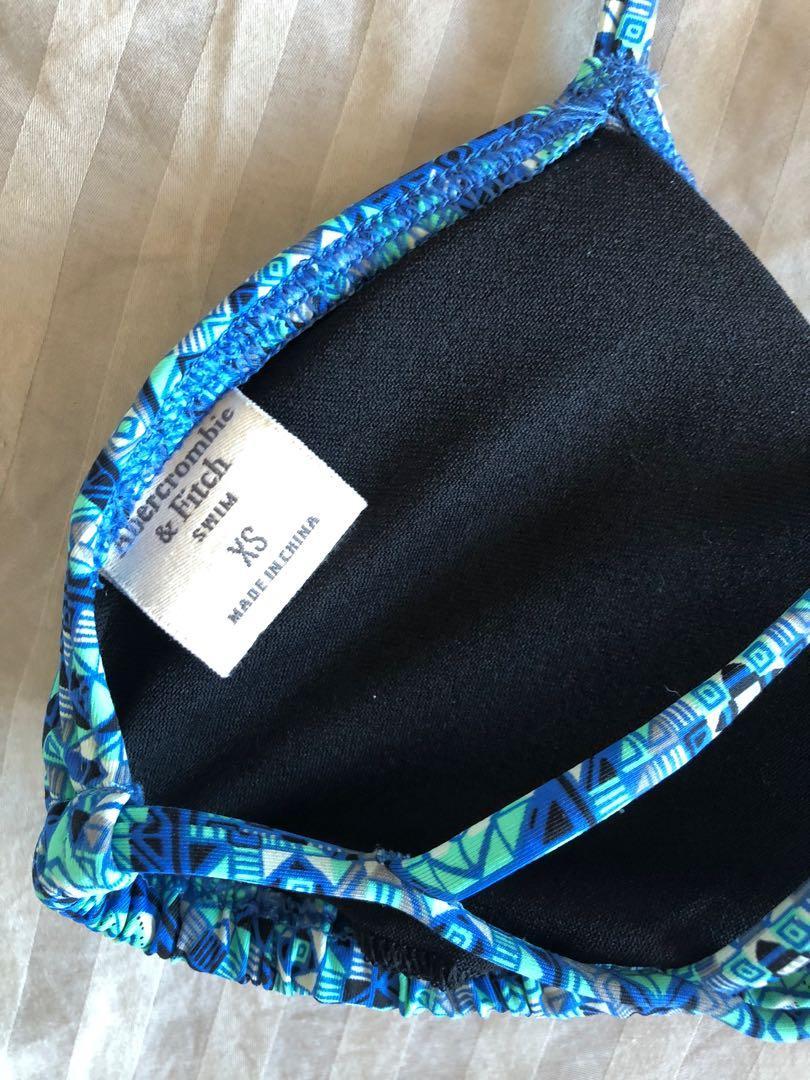 Abercrombie & Fitch Size XS/6 Blue Bikini Strappy Triangle Top