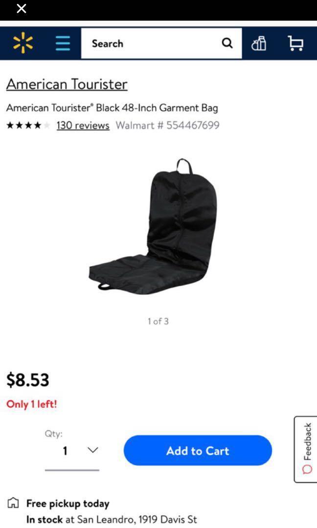 American Tourister 48 inch garment bag