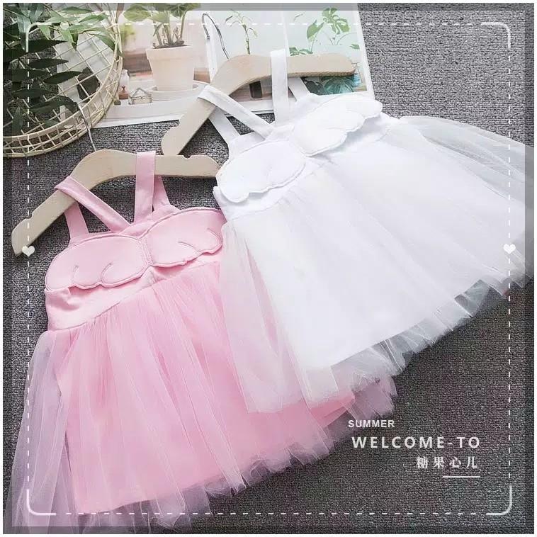 ANGEL WING baju dress anak perempuan dengan rok tutu