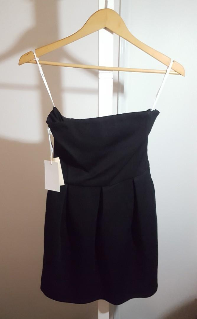 Aritzia Wilfred Harmonie Strapless Dress BNWT Size 4 Black