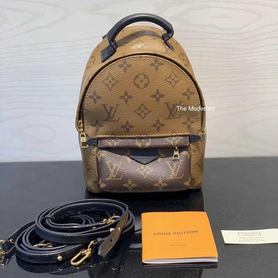 Authentic Brand New Louis Vuitton Palm Springs Mini Backpack Reverse Monogram M42411