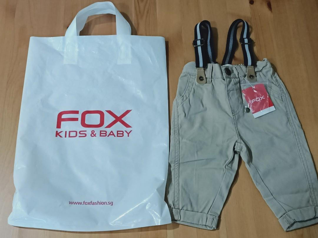 Baby fox boy pants with suspender 3-6 months