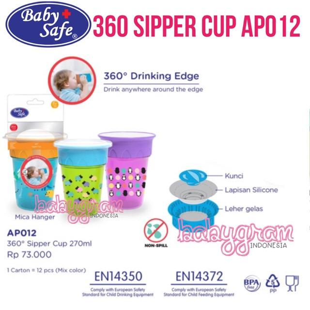 Baby Safe AP012 360 Sipper Training Cup 270ml 6m+ Babysafe 2