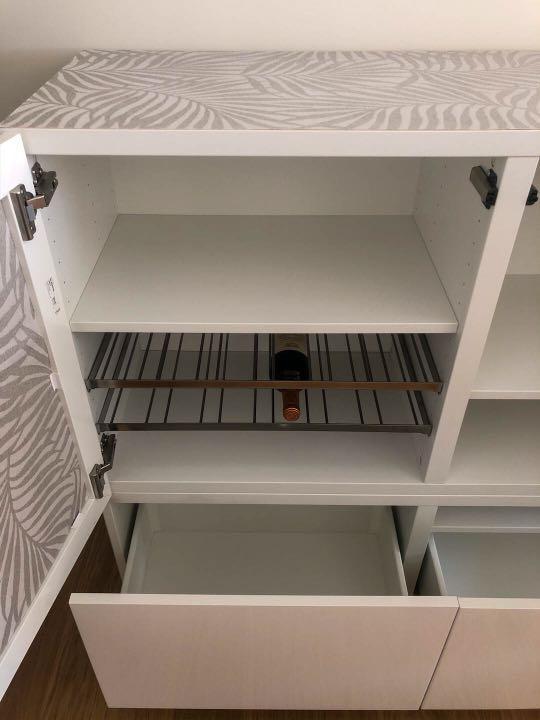 Besta Storage Unit with Doors & Drawers