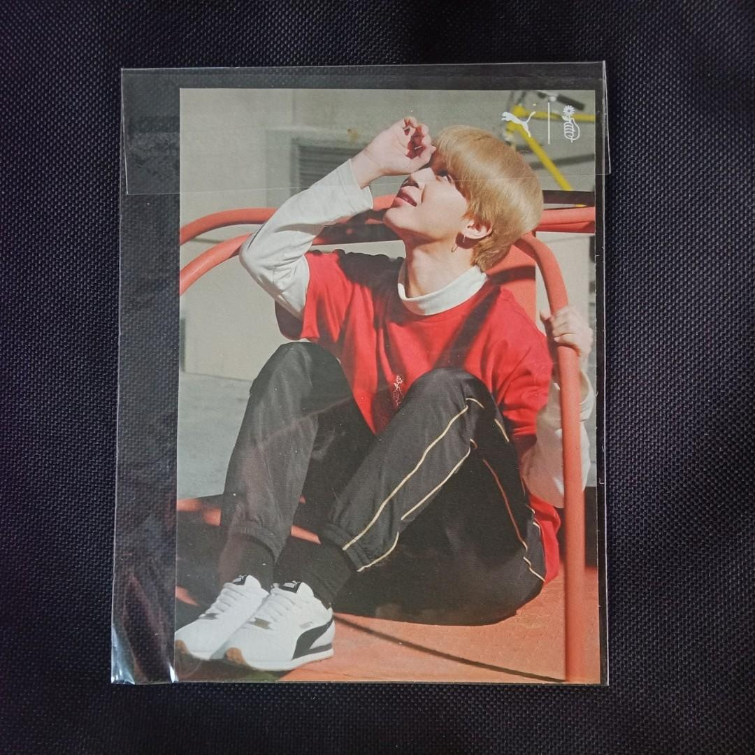 BTS x PUMA Turin - Jimin Official Doubled-sided Postcard  (Limited & Rare)