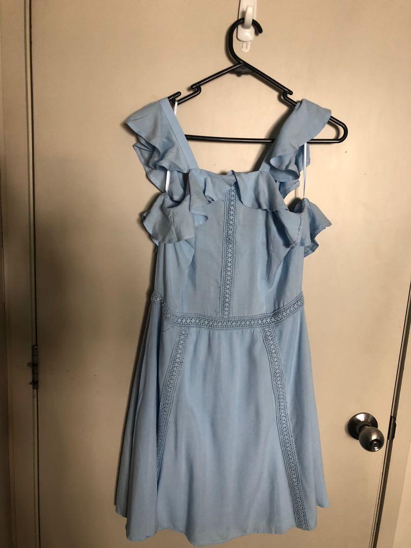 Cute blue summer dress cotton