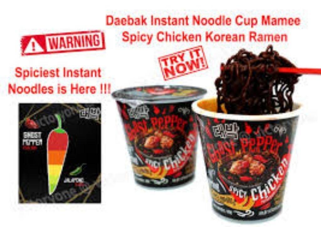 Daebak Ghost Pepper/Spicy Chicken/Habanero Kimchi Jjiga Cup Noodles
