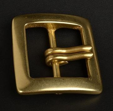 Double Pin Solid Brass Square Shape Belt Buckle Free Shipping