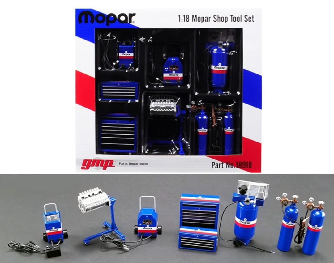 "Garage Shop Tools ""MOPAR"" Set of 6 pieces 1/18 Diecast Replica by GMP"