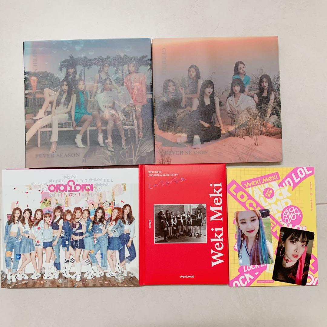 """Gfriend """"Fever Season"""" Unsealed & Weki Miki Album & IOI Album"""