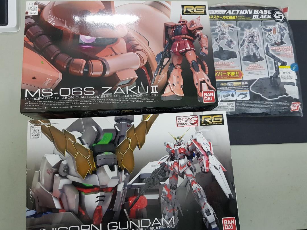 Gundam rg unicorn zaku stand