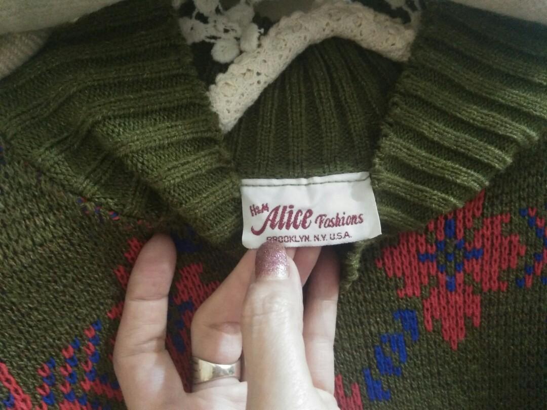 H&M 瑞典品牌 近新落肩款毛線衣(買滿六百之贈品)#剁手時尚