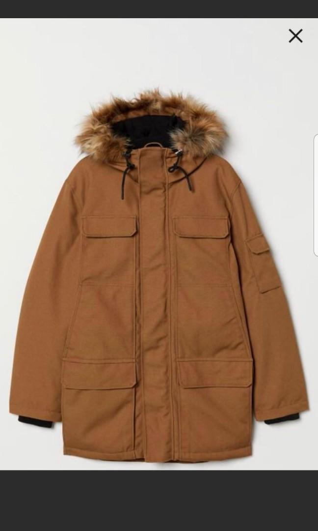 H&M warm lined winter parka jacket