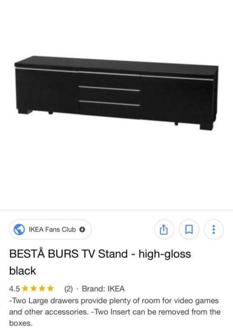 IKEA Besta Burst TV Stand (high-gloss black)