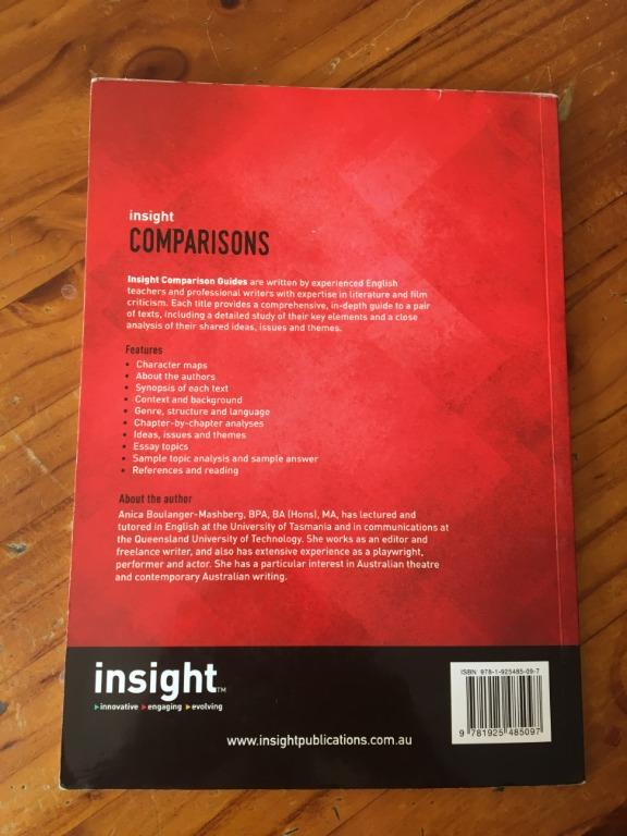 Insight Comparisons - Tom Wright's Black Diggers & Fred D'Aguiar's The Longest Memory
