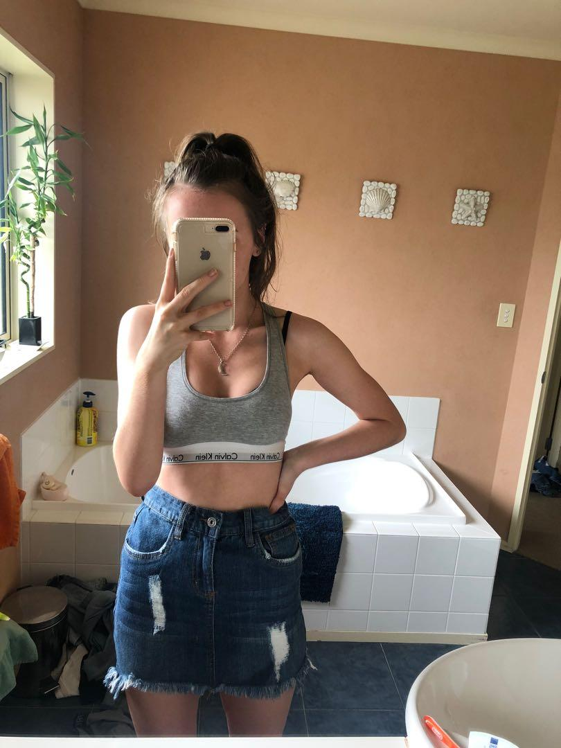 junkfood jeans skirt denim