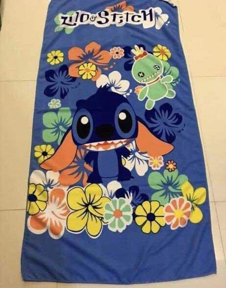 Kids cartoon towel