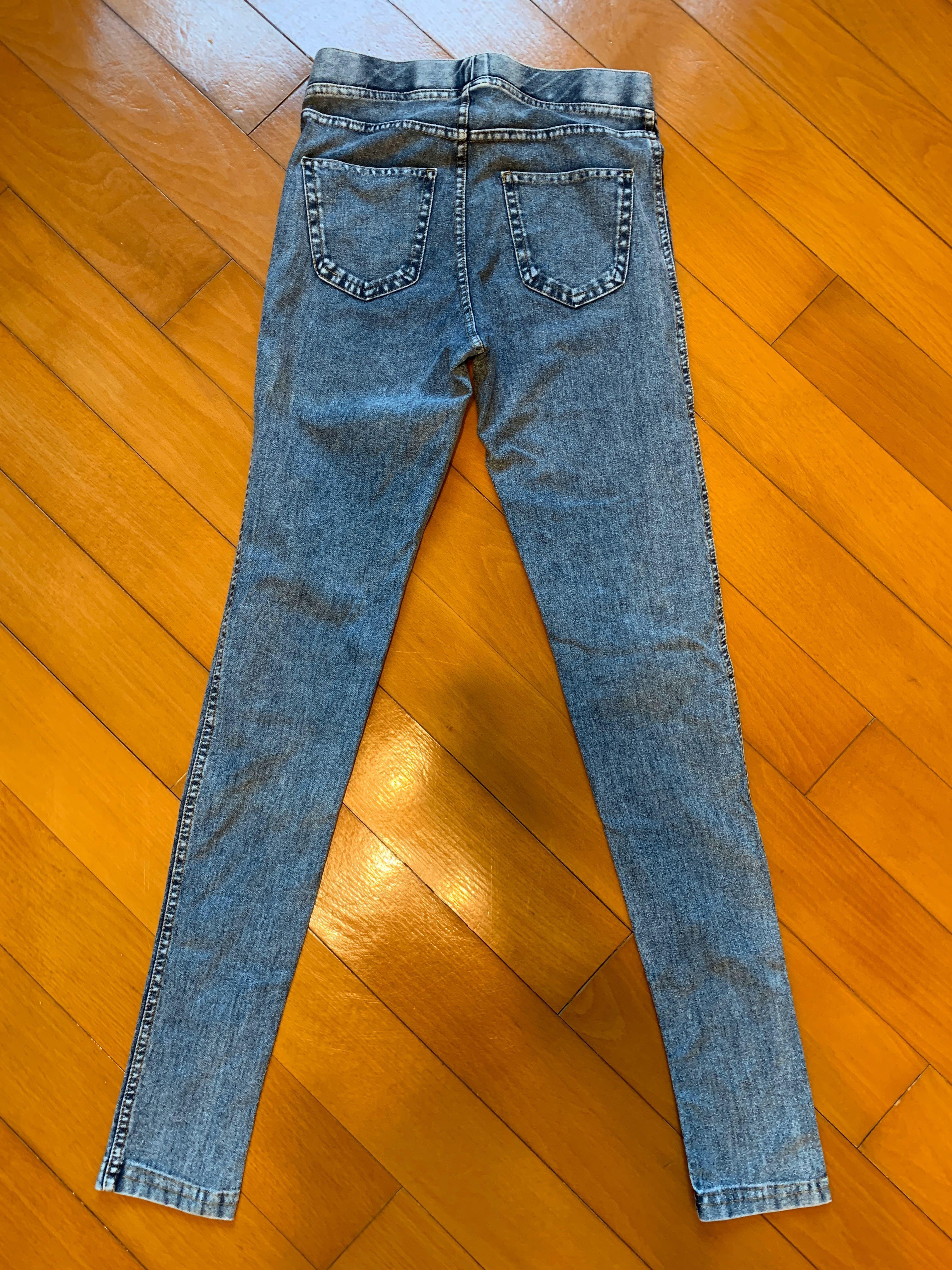Kids H&M denim leggings 女童牛仔貼身褲
