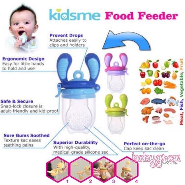 Kidsme Food Feeder Size L / Food Feeder Kidsme Empeng Dot Buah Bayi Baby Fruit Food Feeder Pacifier 2
