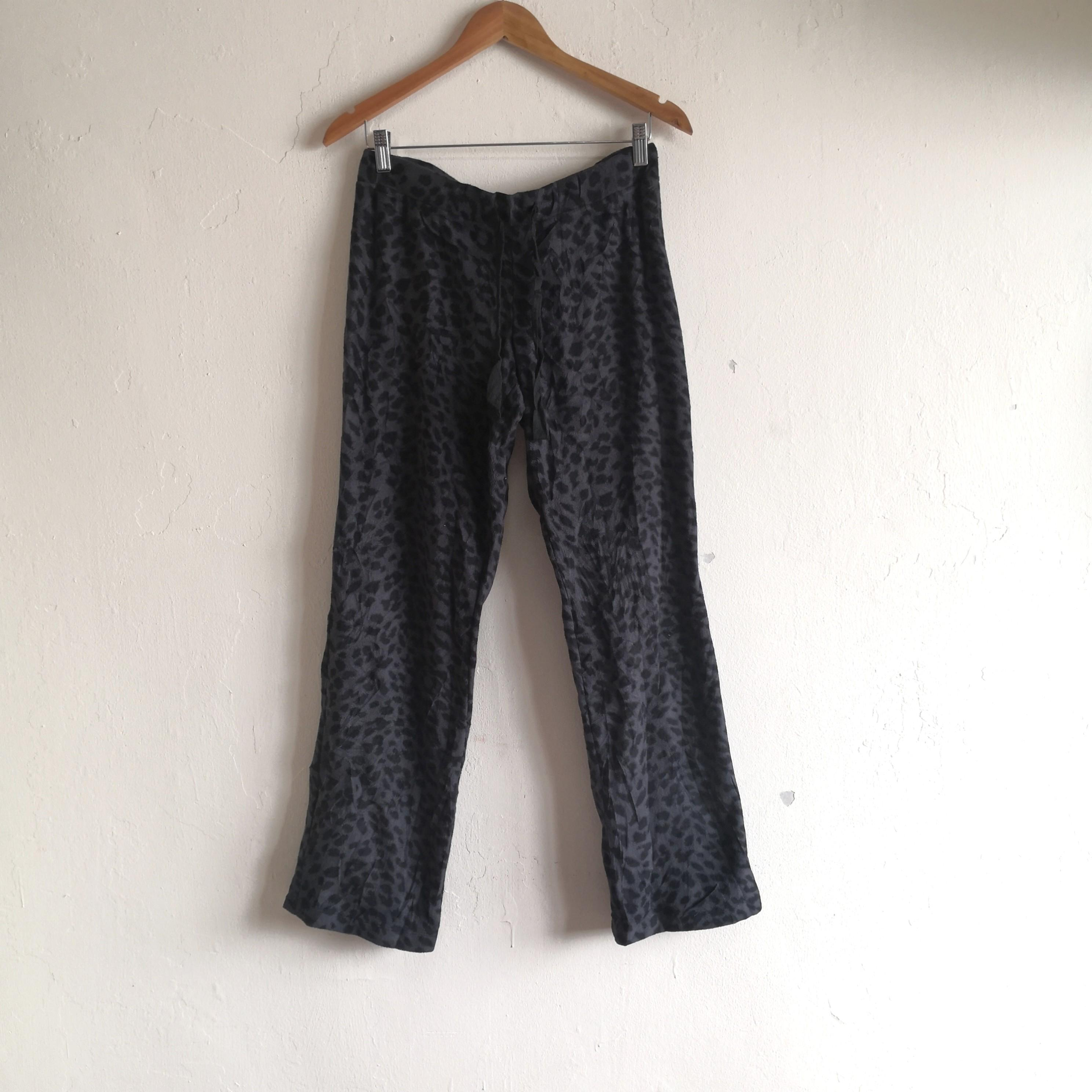 Leopard Printed Polyester Pajama Pants