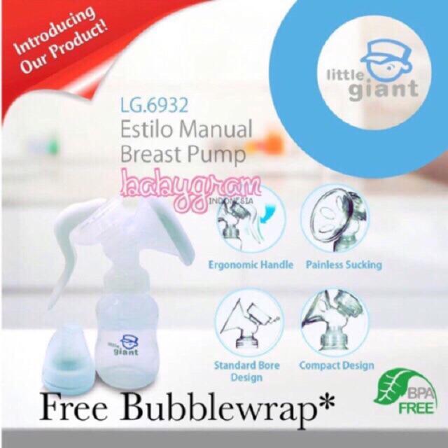 Little Giant Estilo Manual Breast Pump LG6932 / Pompa Asi Manual Breastpump Little Giant Estilo 2