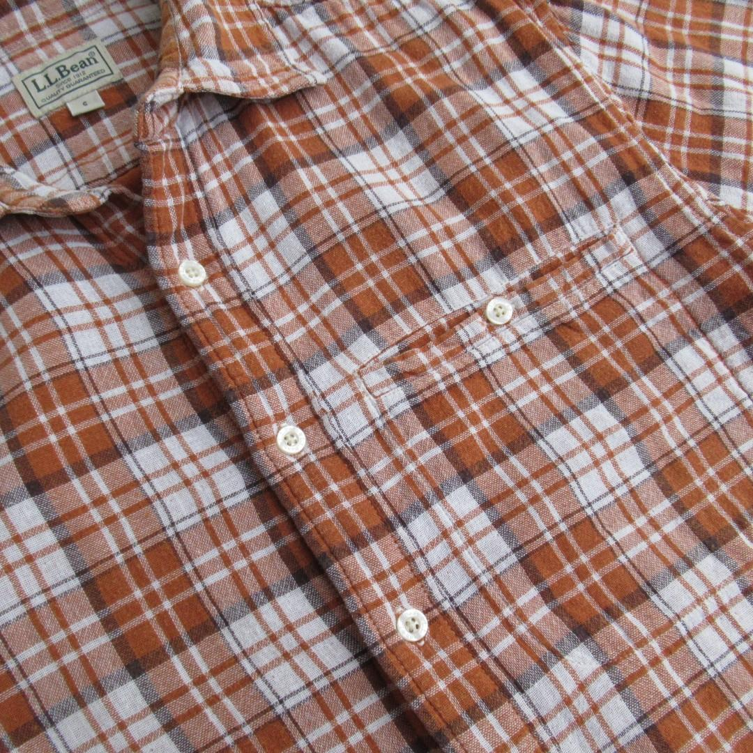 L.L Bean S/S Plaid Flannel Shirt #1111special
