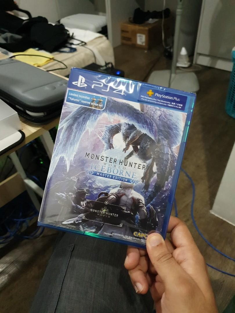 monster hunter world iceborne master edition steelbook