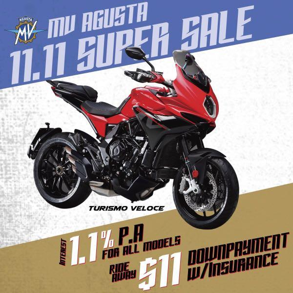 MV Agusta Special Interest Rate 1.1%p.a for New and Used bikes