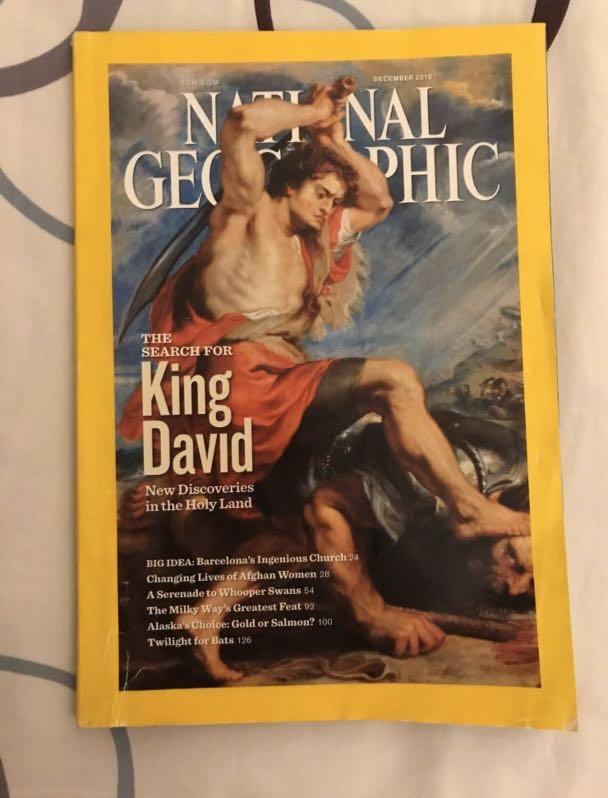 National Geographic : December 2010 : The Search for King David
