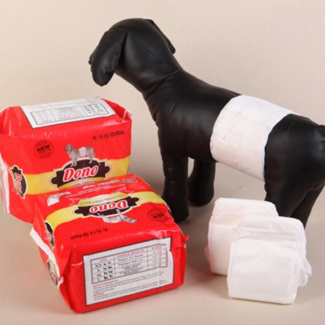 NEW Dono Dog Diapers of Male / Female Dog, Disposable Pet Dog Marking Male Dog Diaper Wraps