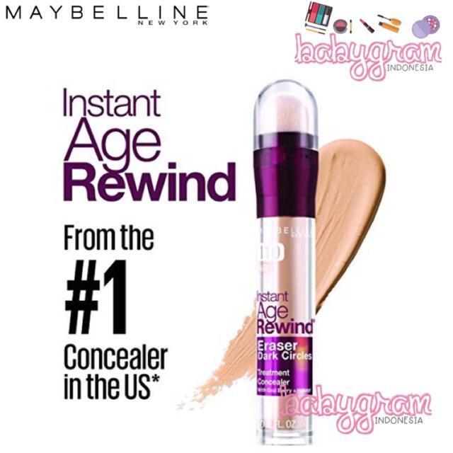 ORIGINAL BPOM Maybelline Instant Age Rewind Eraser Dark Circle Treatment Concealer 2