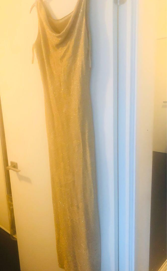 Party dresses almost new  ,gold one 45, black one ,30 , white one 40