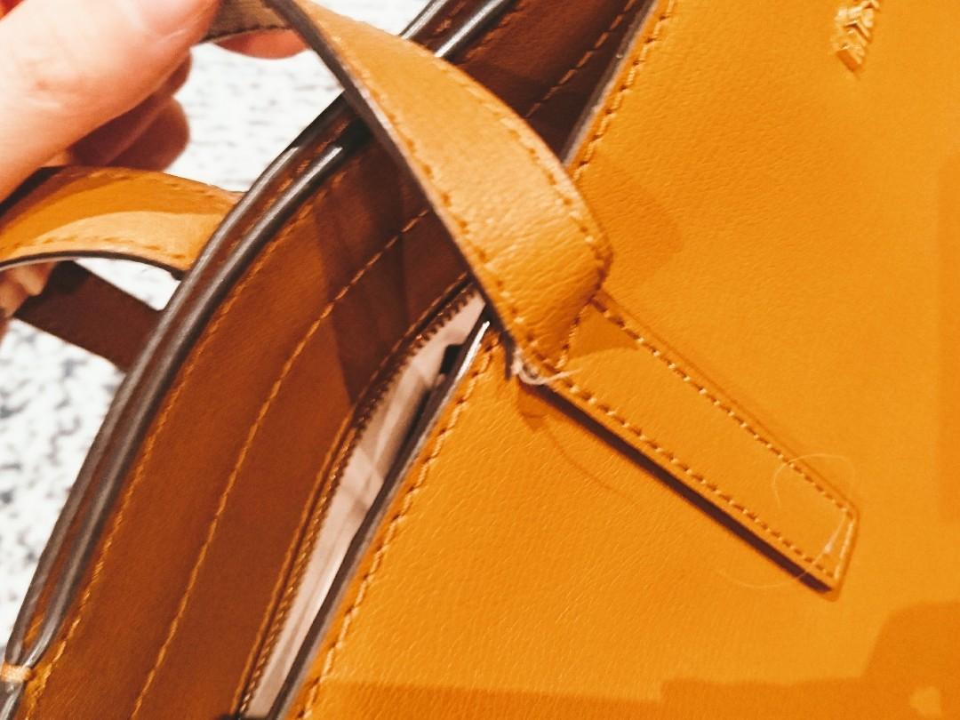 Preloved Michael Kors Sylvie Stud Large Tote - Leather Brown