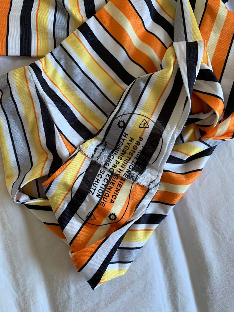 Princess Polly elk set stripe bikini orange/yellow