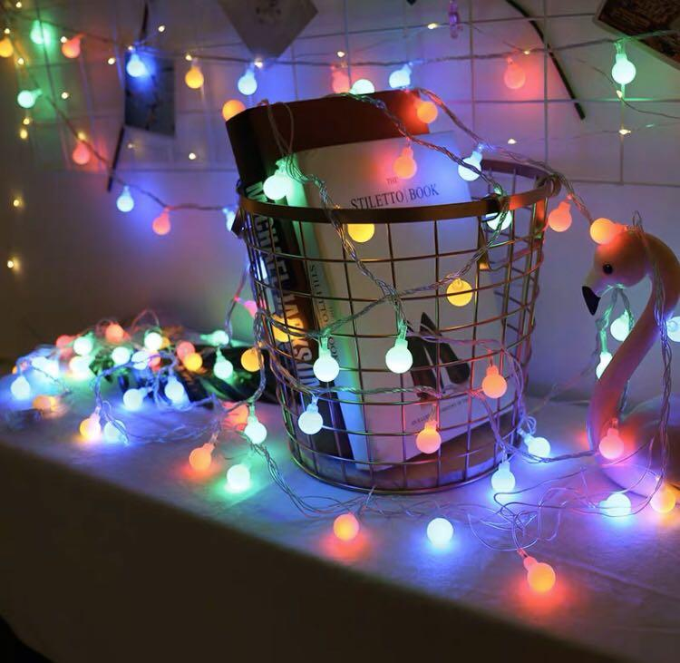 Rainbow fairy lights little bulbs