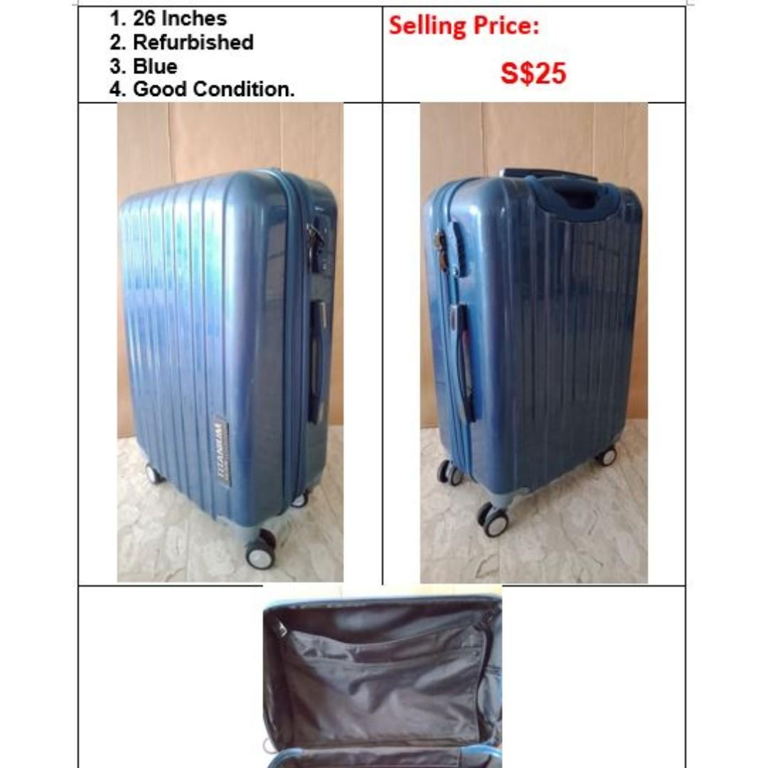 Refurbished luggage bags still in good condition.