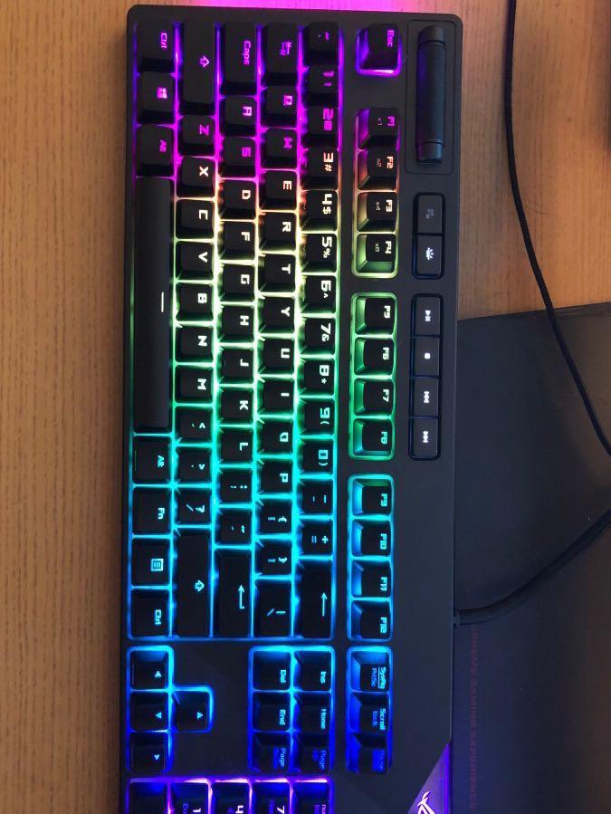 ROG STRIX Flare RGB Keyboard(Cherry MX BLUE 青軸英文機械式鍵盤