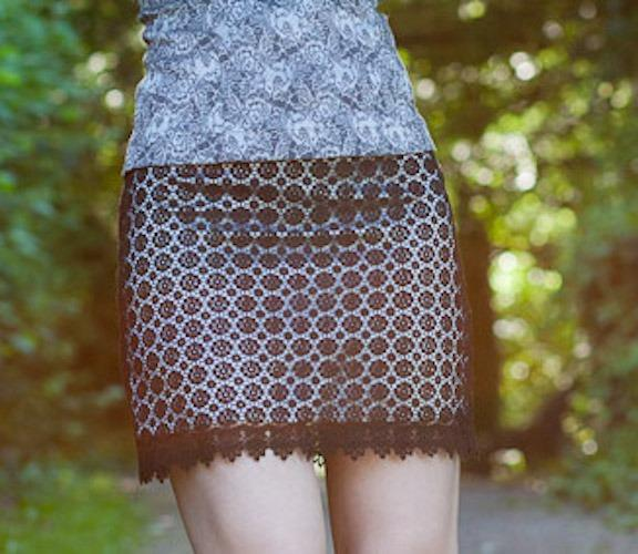 Silk & Lace mini skirt, size 8, one off, designed & made in AUS