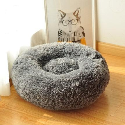 Super soft Long Plush Round Pet Bed Free Shipping