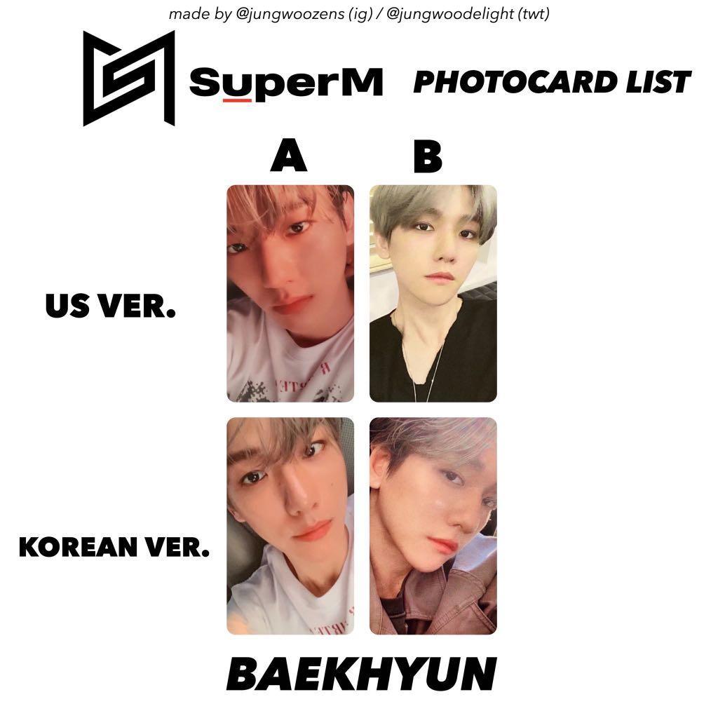 SuperM TEN (WayV, NCT) photocard TRADE to Baekhyun photocard