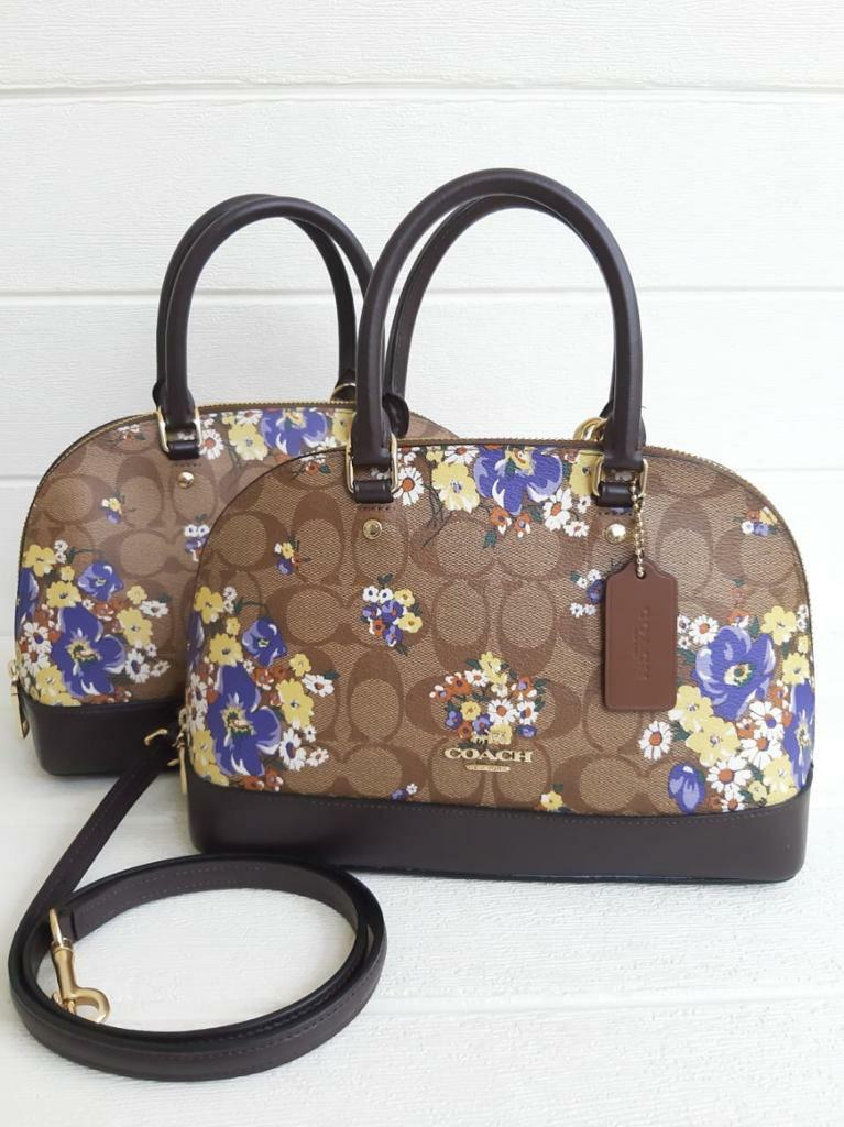 Tas coach mini sierra floral satchel bag ppv new original