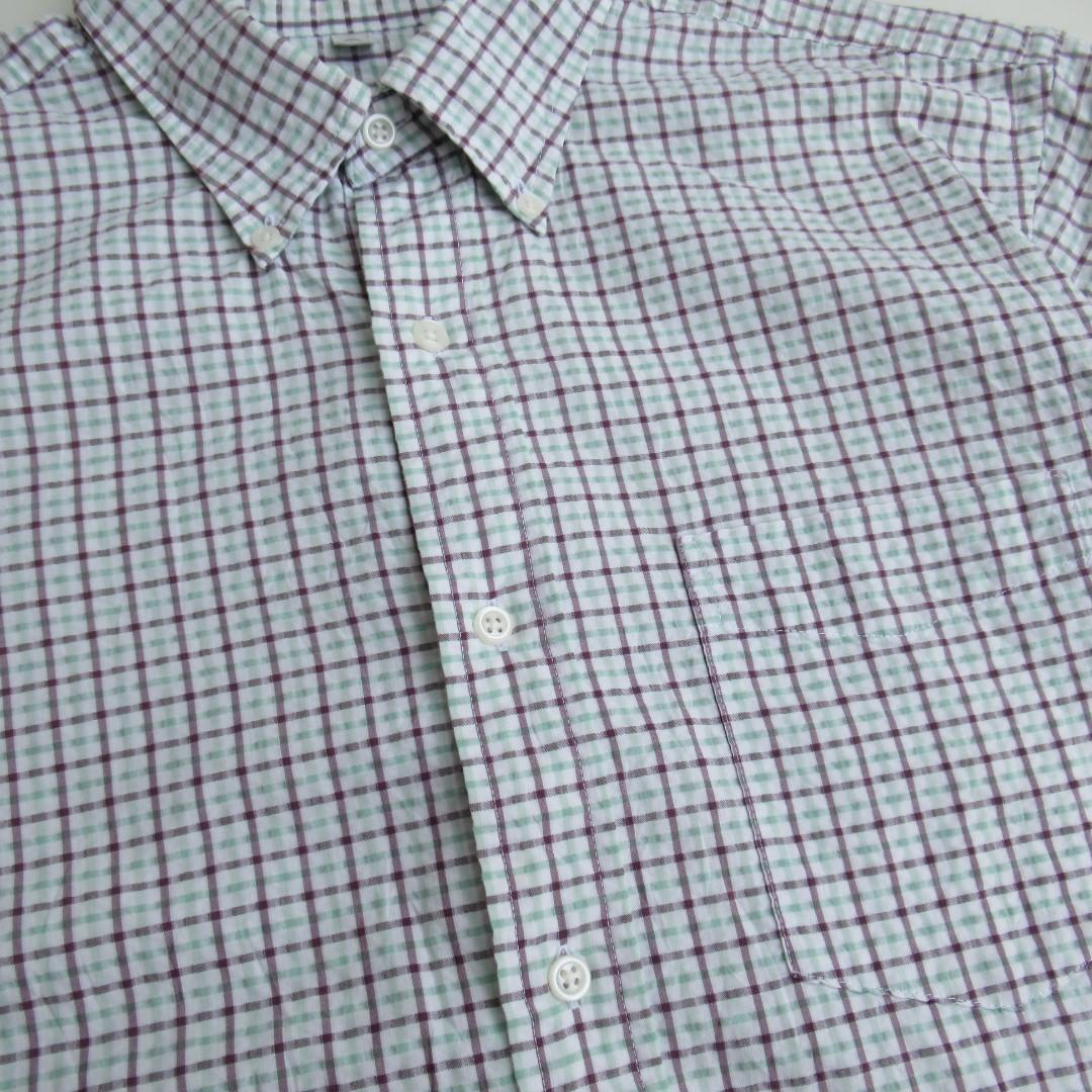 Uniqlo Gingham Button Down S/S Shirt #1111special
