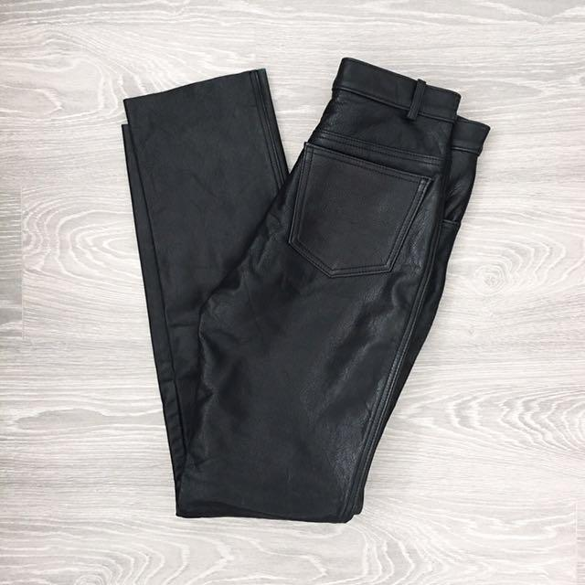 Vintage Women's Real Leather Pants