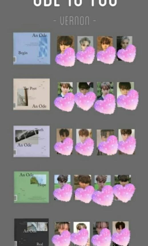 [WTB] Seventeen An Ode Vernon Album Photocard