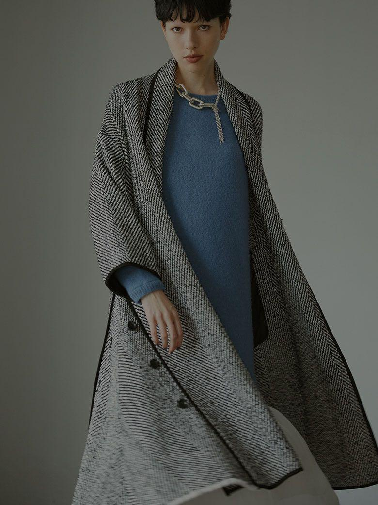 (🇯🇵日本代購)日幣¥28,490円【AMERI】代官山知名品牌夢幻逸品豪奢暖和移動時搖曳美麗高雅繫帶深色大衣