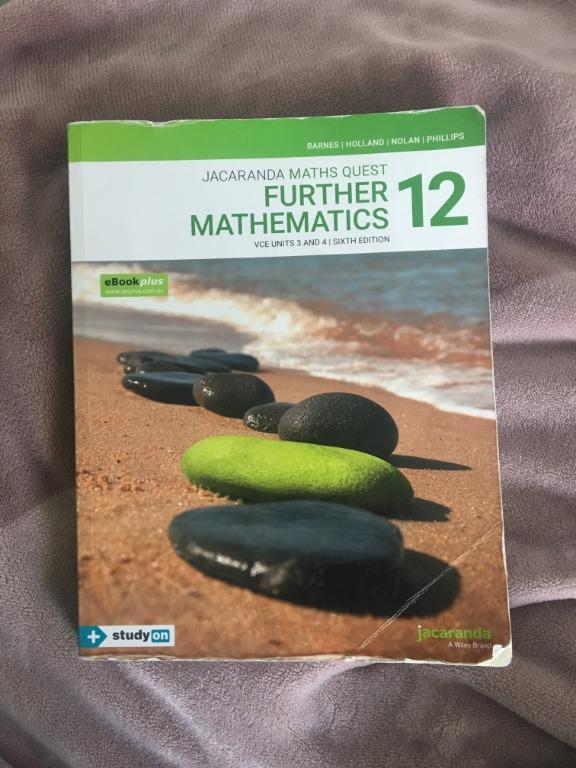 Year 12 Further Math Textbook - Jacaranda Maths Quest 12