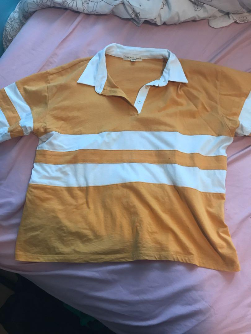 Yellow Polo Shirt (Urban Outfitters)
