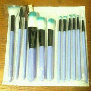 全新收納筒裝彩妝化妝初學者漸層刷具12件套裝組